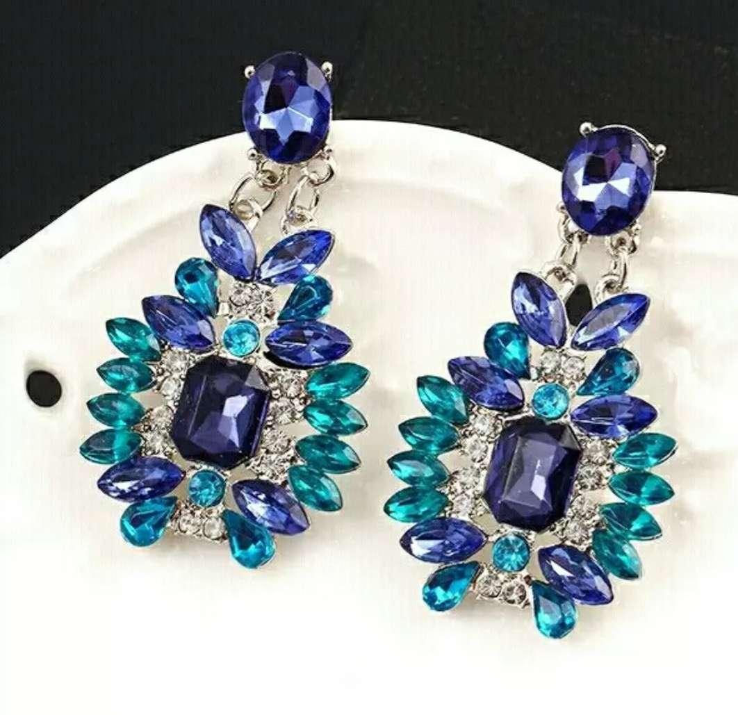 Imagen Pendientes grandes azules