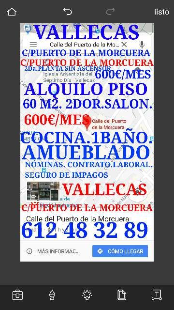 Imagen producto Vallecas C/Puerto De la Morcuera piso en alquiler 600€ 3