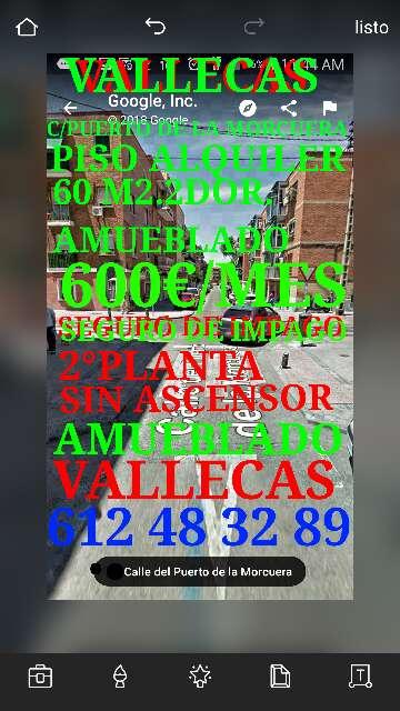 Imagen producto Vallecas C/Puerto De la Morcuera piso en alquiler 600€ 9