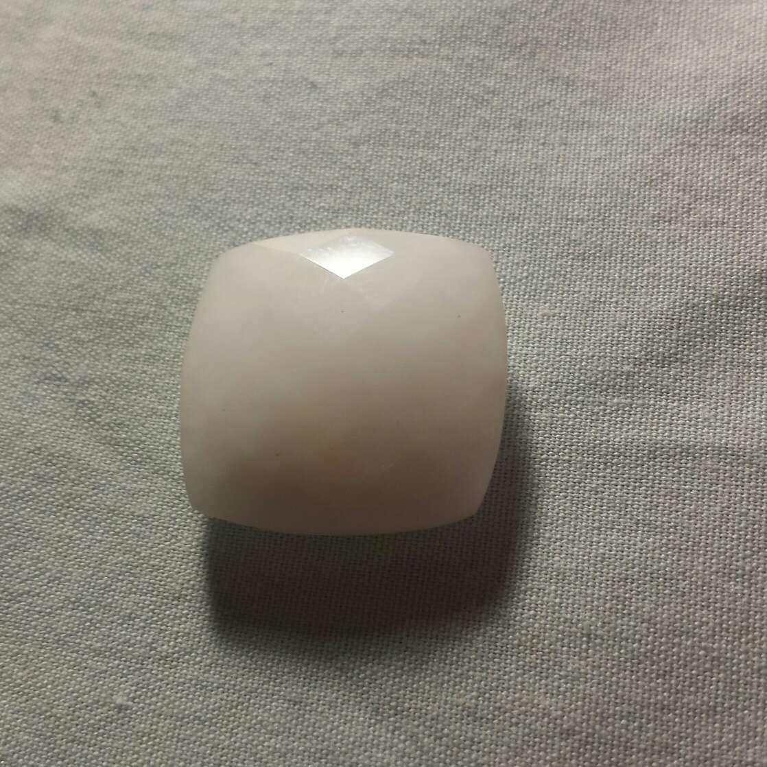 Imagen Ópalo cuarzo blanco doble damero
