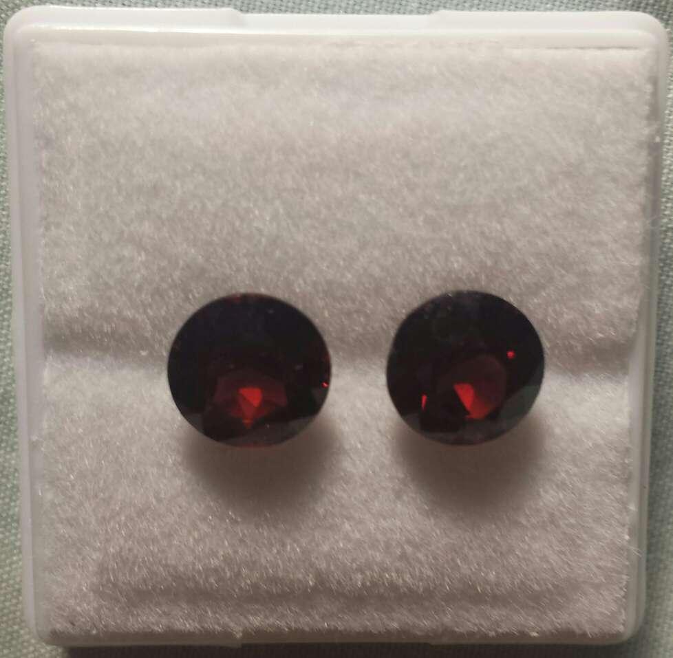 Imagen producto Pareja de granates certificados  5