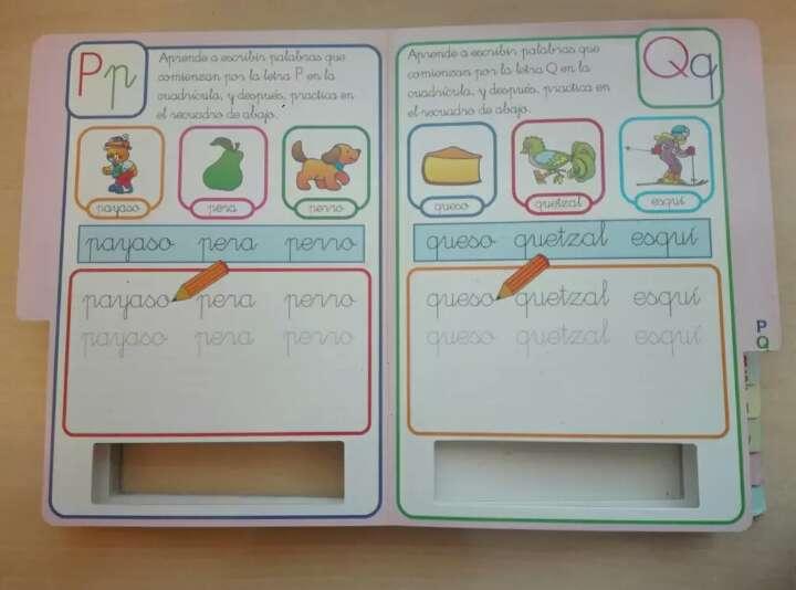 Imagen producto Libro pizarra, aprende el abecedario 4