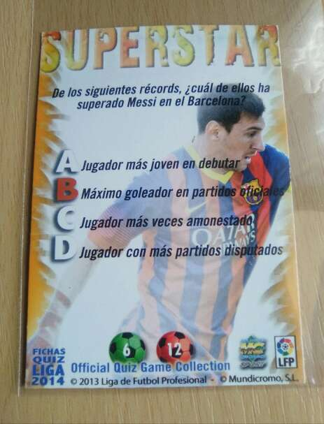 Imagen producto Cromo de Messi  2