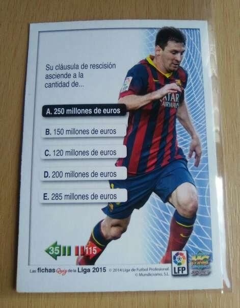 Imagen producto Cromo de Messi nuevo 2