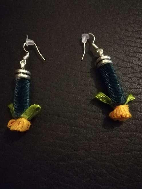 Imagen producto Pendientes con motivos florales  2