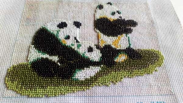 Imagen Cuadro de osos panda