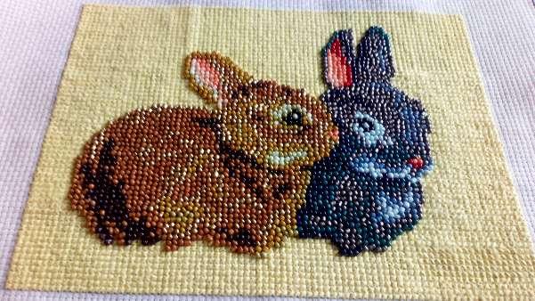 Imagen Cuadro de 2 conejos