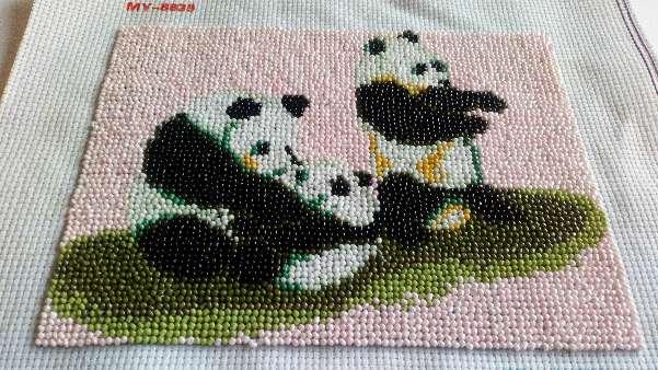 Imagen Cuadro de familia de pandas