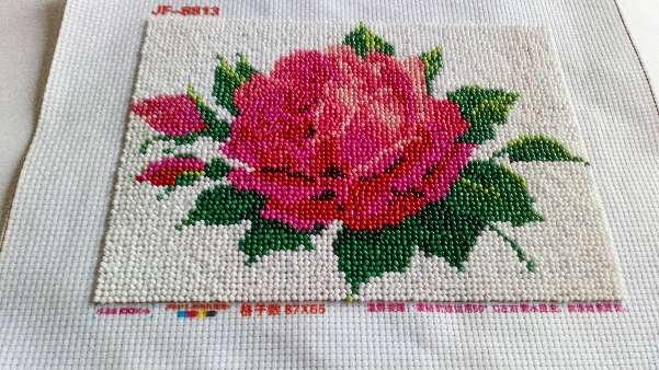 Imagen Cuadro de flor rosa