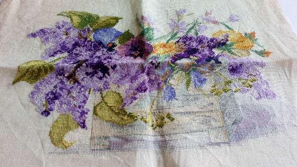 Imagen Cuadro de flores lilas