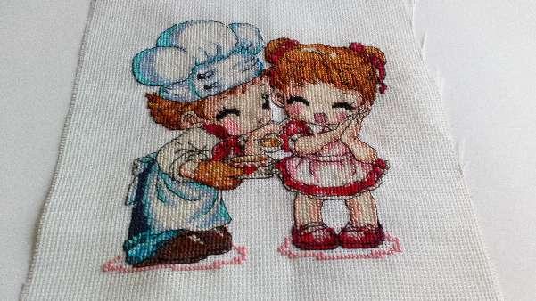 Imagen producto Cuadro de cocinero con niña  1