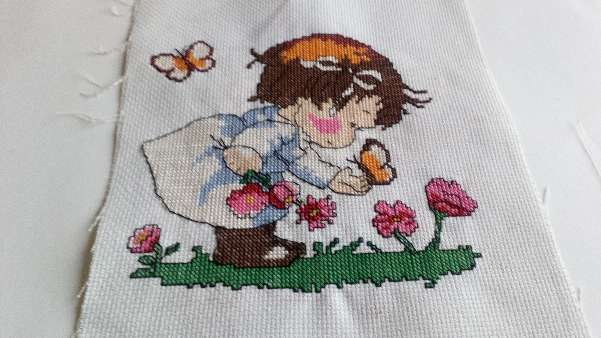Imagen Cuadro de niña con flores
