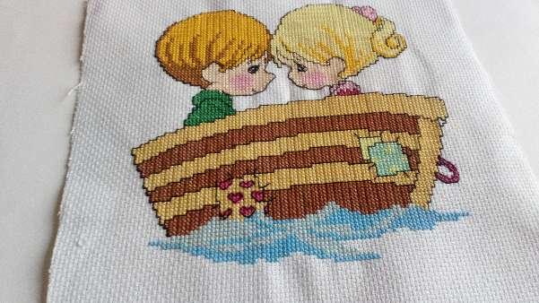 Imagen Cuadro de niños en barca
