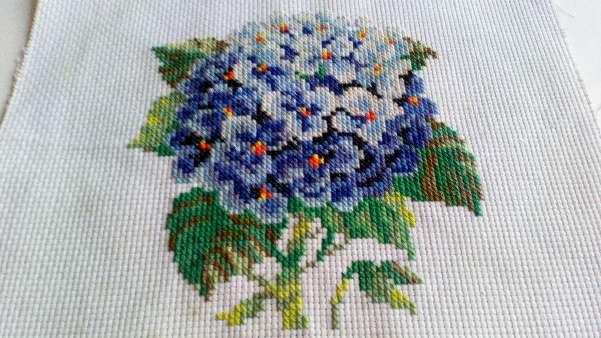 Imagen Cuadro de flor azul