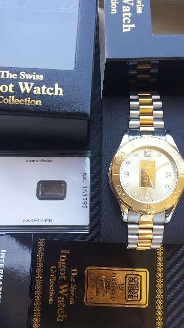 Imagen producto Reloj con lingote de oro puro 999  2