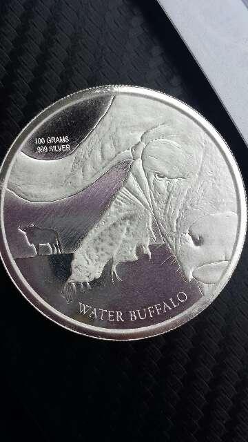 Imagen Moneda de plata pura 999 de 100 gramos