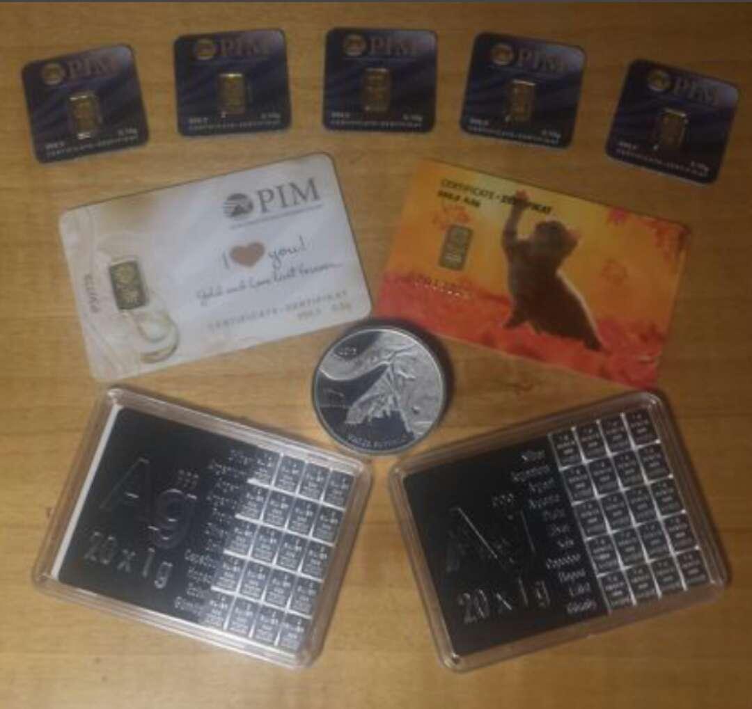 Imagen producto Venta de Pack económico de inversión oro ,plata  6