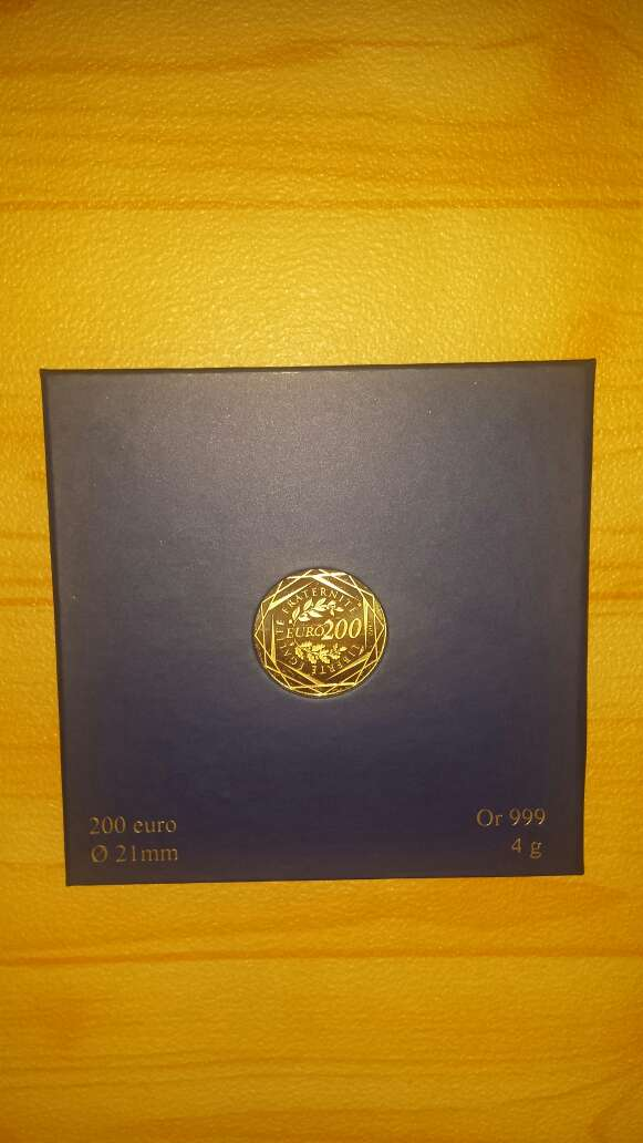 Imagen Moneda de oro puro 999 de 200 euros