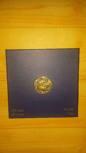Imagen producto Moneda de oro puro 999 de 200 euros  2