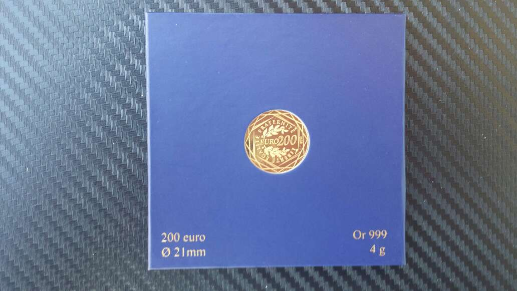 Imagen producto Moneda de oro puro 999 de 200 euros  6
