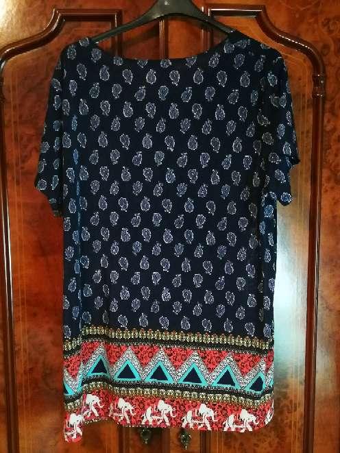 Imagen producto Camisa de señora en azul  2