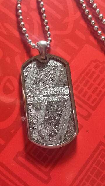 Imagen producto Meteorito Seymchan placa ejército  2