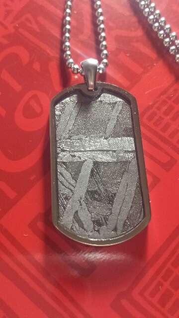 Imagen producto Meteorito Seymchan placa ejército  3