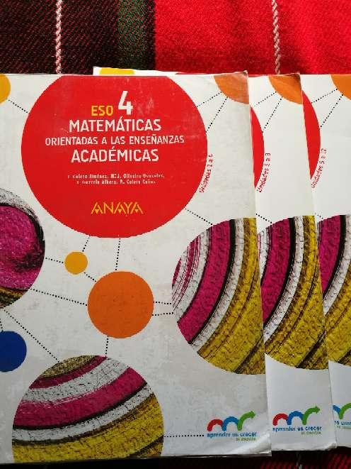 Imagen producto Vendo libros 4° ESO 1