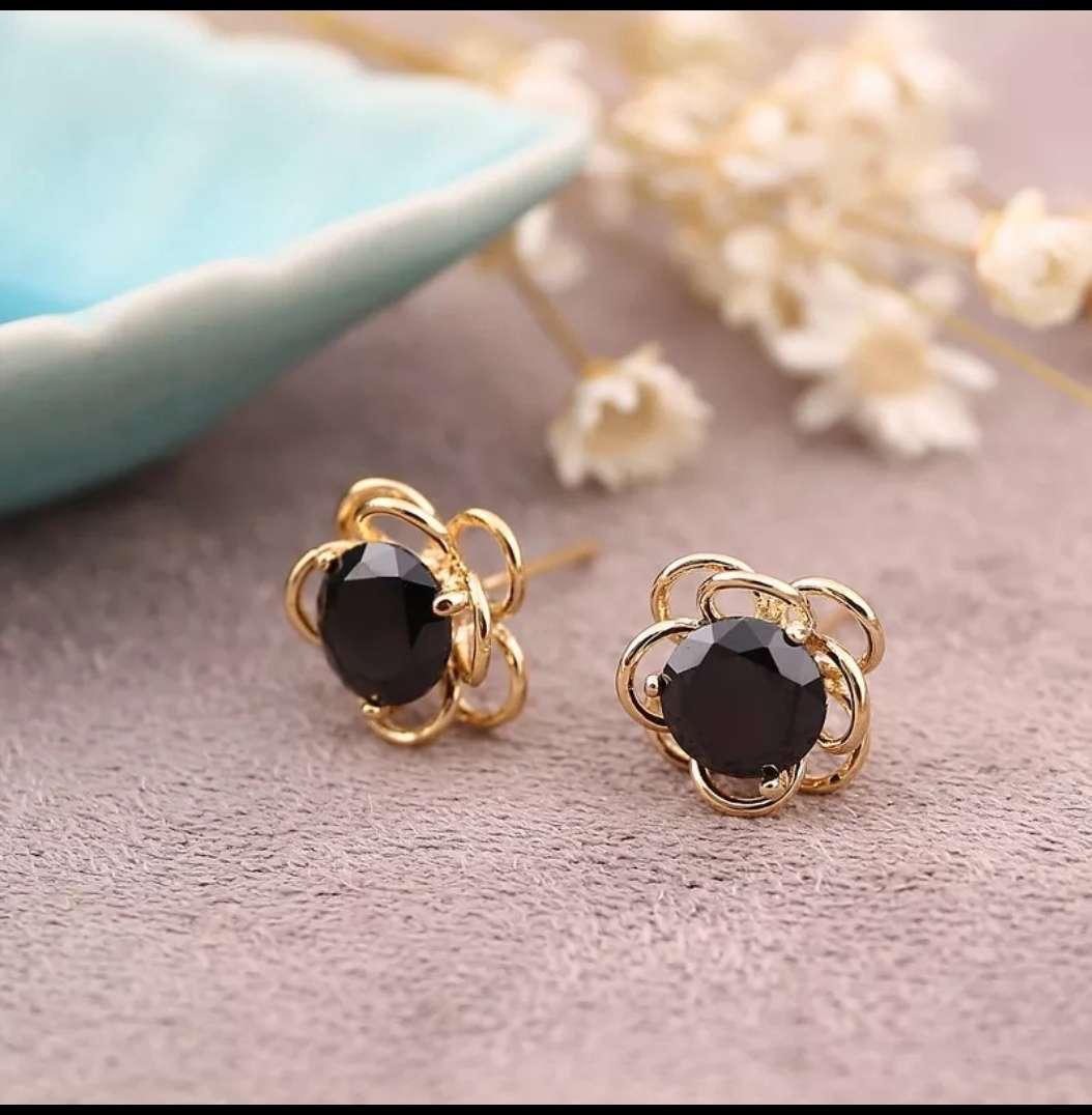 Imagen Pendientes de perlas negras