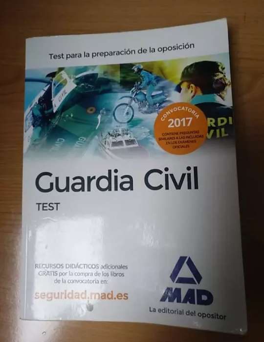 Imagen Libro test Guardia Civil MAD