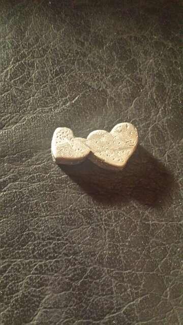 Imagen producto Doble corazón meteorito  6