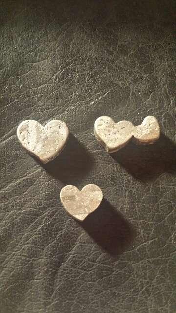 Imagen producto Conjunto varios corazónes meteorito  3