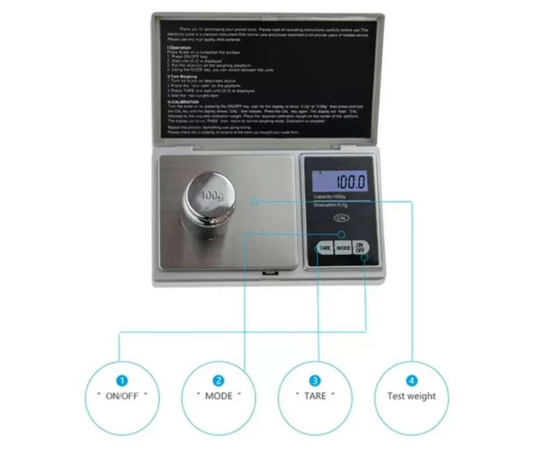 Imagen producto Bascula joyería-proteínas precisión nueva 2