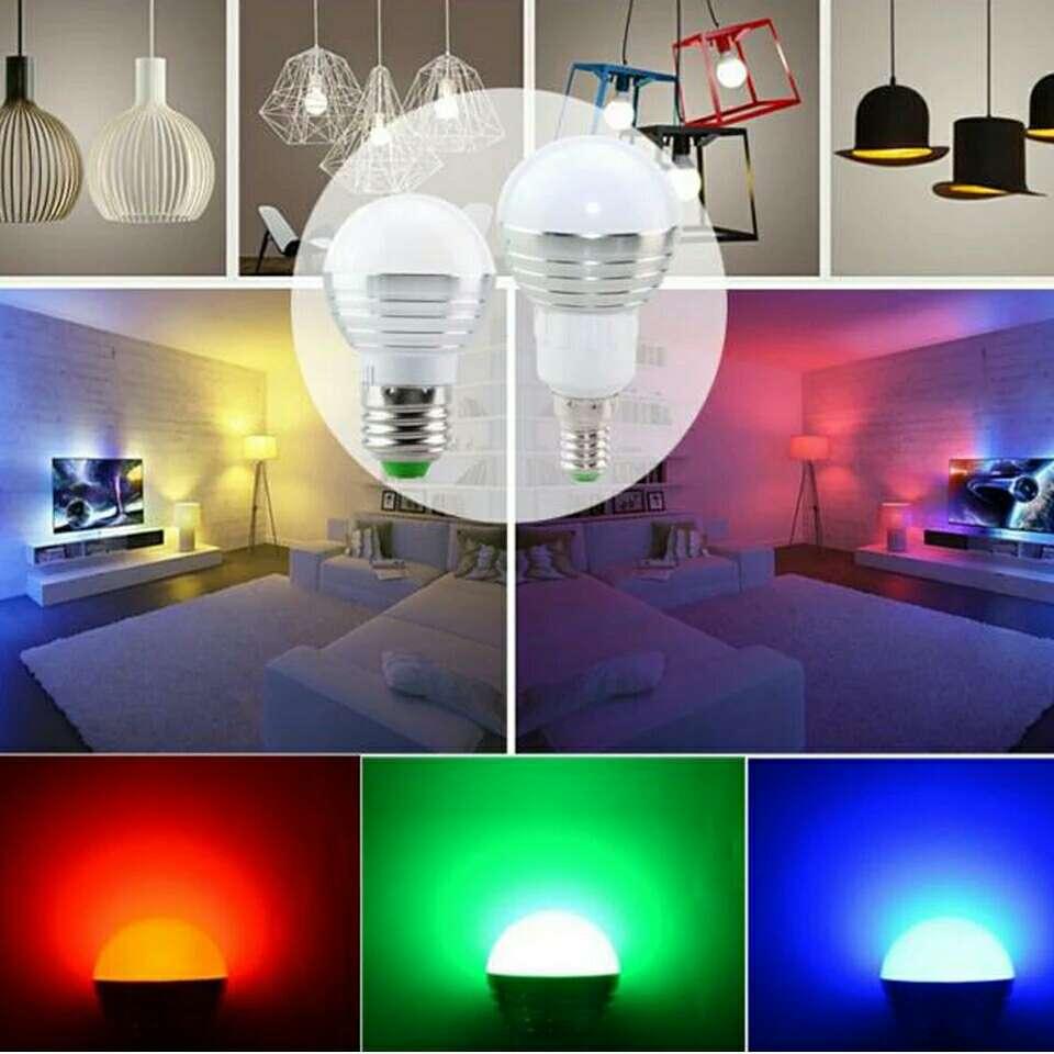 Imagen producto Bombilla LED multiculores.luz noche atmósfera de navidad  3