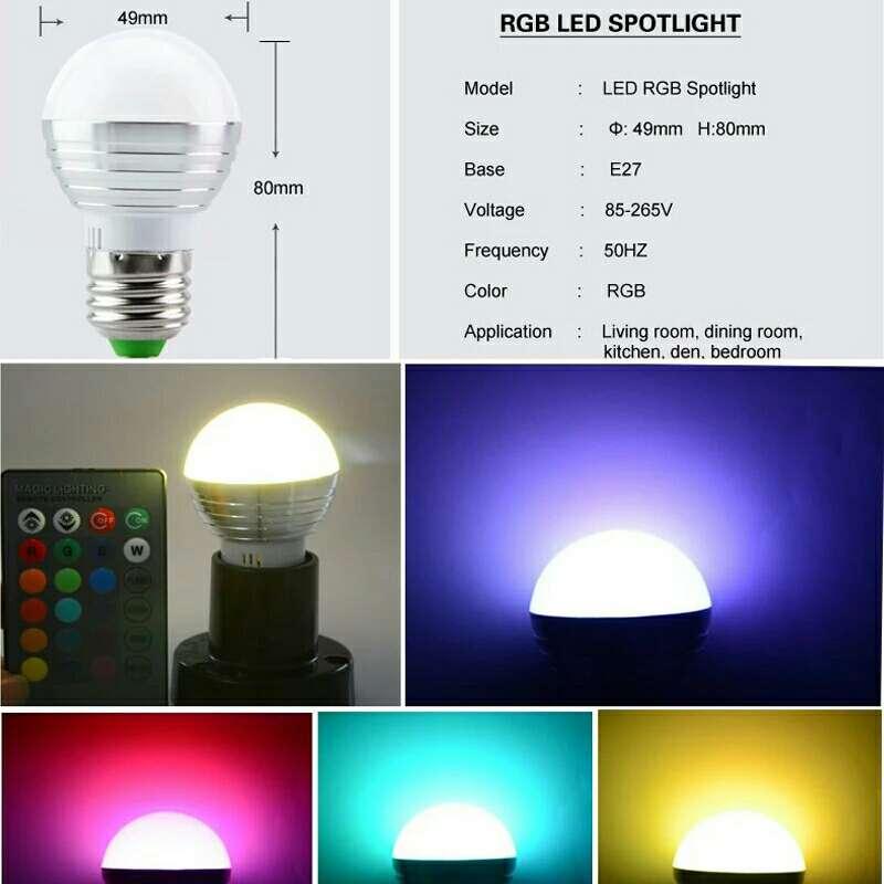 Imagen producto Bombilla LED multiculores.luz noche atmósfera de navidad  1