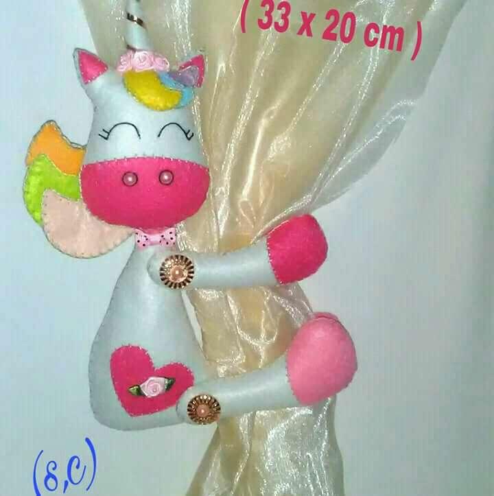 Imagen Sujeta cortinas unicornio