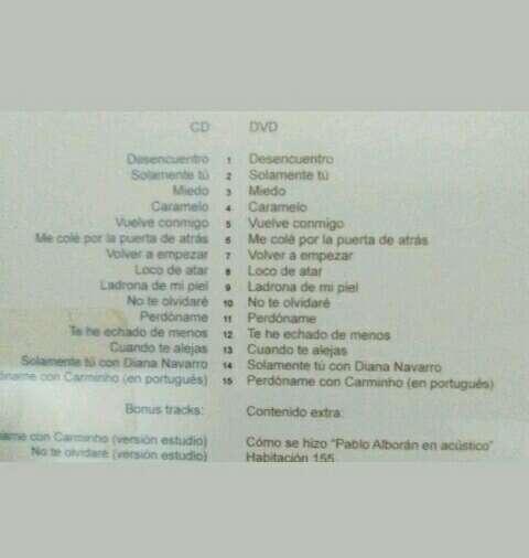 Imagen producto CD + DVD Pablo Alborán  3