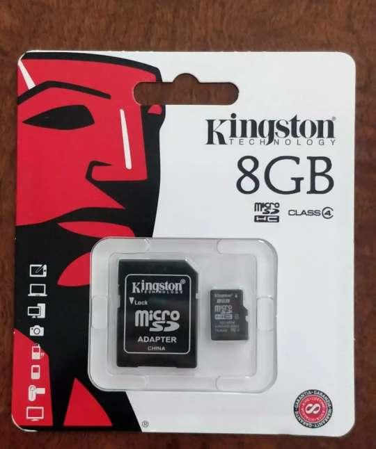 Imagen Tarjeta memoria NUEVA con adaptador 8GB KINGSTON