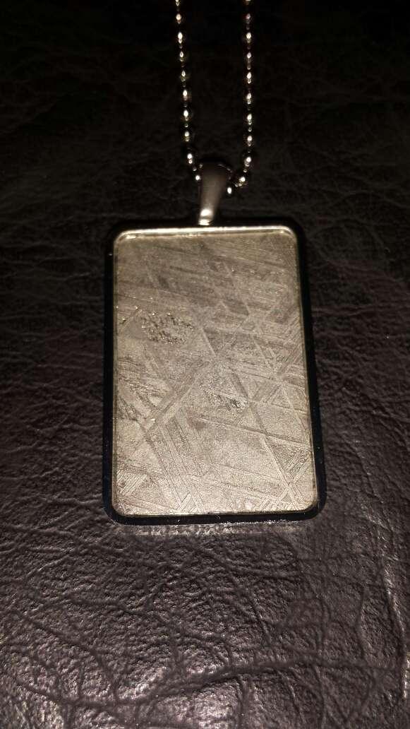 Imagen Colgante meteorito rectangular