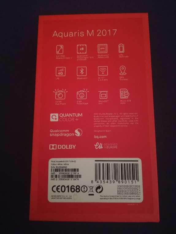 Imagen producto BQ Aquaris M 2017 2GB-16GB Blanco  4