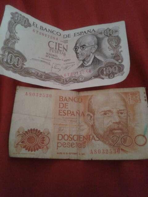 Imagen Billetes y monedas en pesetas