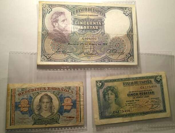 Imagen Lote Billetes colección numismática