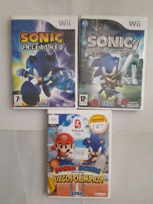 Imagen producto Pack Juegos Sonic Wii 1