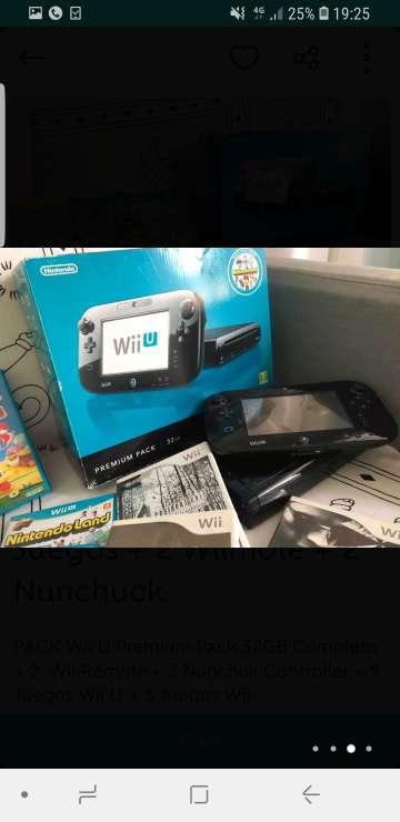 Imagen consola nintendo wii u premium pack + muchísimos juegos originales