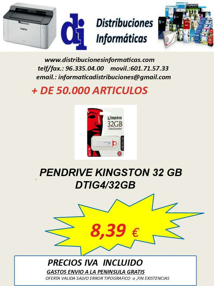 Imagen pendrive Kingston 32 gb DTIG4