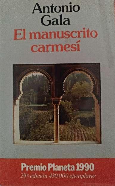 Imagen libro el manuscrito carmesí. antonio gala