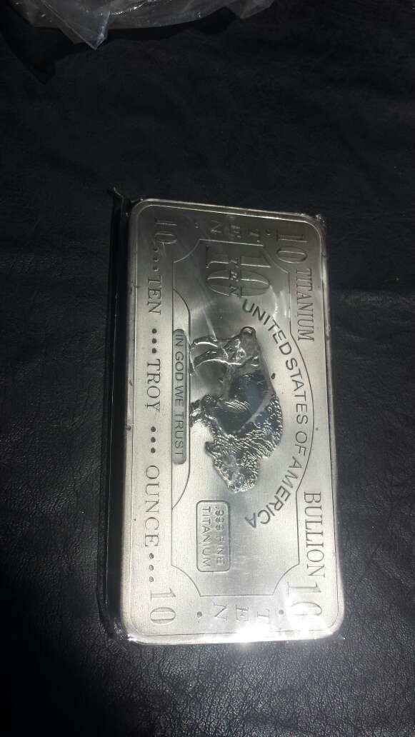 Imagen producto Lingote de titanio puro 10 onzas  5