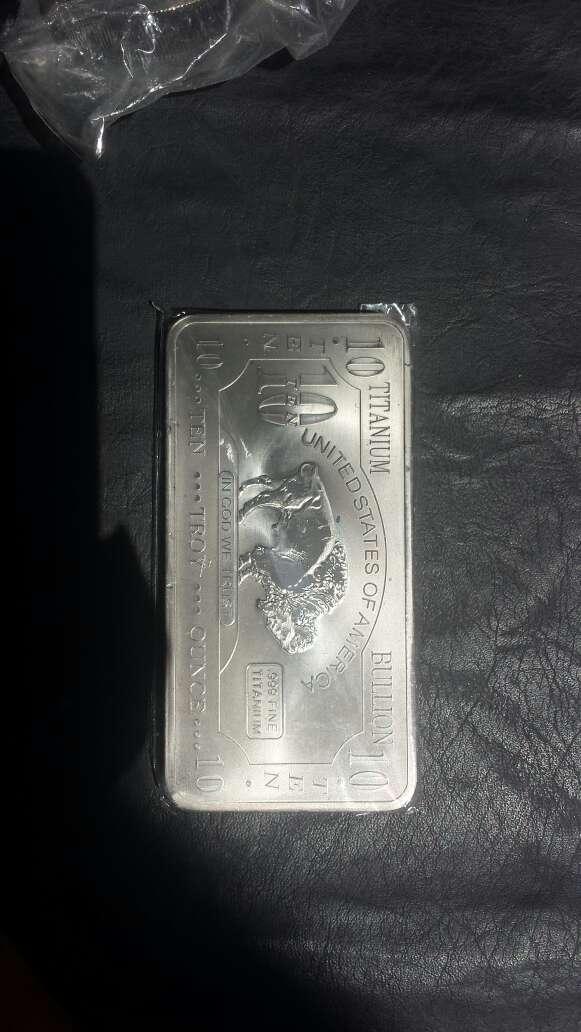 Imagen producto Lingote de titanio puro 10 onzas  4