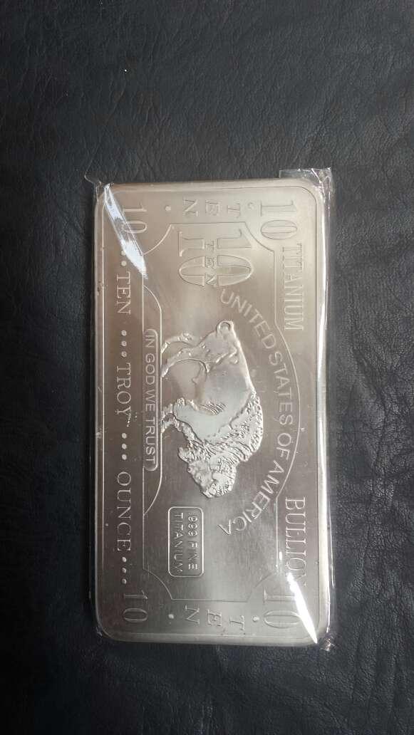 Imagen producto Lingote de titanio puro 10 onzas  3