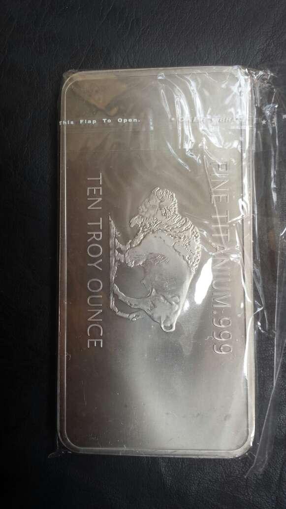 Imagen producto Lingote de titanio puro 10 onzas  2
